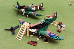 Lego Spitfire Mk.II Build (Dread Pirate Wesley) Tags: lego moc spitfire mki mkii battle britain england english channel supermarine airplane fighter ww2 world war