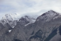 The Peaks of the Ottertail Range Caught in the Morning Clouds (Yoho National Park)