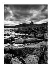 Incoming-tide-Dunstaburgh-castle (jdtphotographycouk) Tags: coastalphotography bnw mono monochrome blackandwhitephootgraphy bw sunlight ukcoastalphoto canon canon6d uklandscape northumberland moodyphoto rocks sea