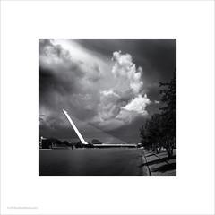 Puente del Alamillo, Seville #2 (Ian Bramham) Tags: puentedelalamillo bridge santaigocalatrava seville spain drama clouds thunderstorm sky bw