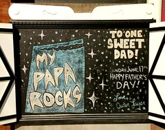 Happy Father's Day! (Georgie_grrl) Tags: chalkboard outerlayer queenstreetwest toronto ontario sign happyfathersday father dad pops papa daddyo parent family poprocks