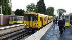 05.58am today - 1st train - Maghull North Station (White Pass1) Tags: 508137 maghull maghullnorthstation merseyrail merseytravel class508 platform platformshelters newstation openingdaymaghullnorth track 3rdrail passengers