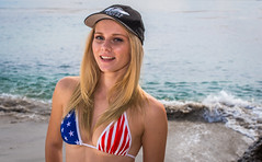 American Flag Bikini Swimsuit!  Red, White, & Blue Bikini! Pretty! Beautiful Blonde Hair Blue Eyes Bikini Swimsuit Model Surf Girl Beach Girl! Happy 4th of July & Memorial Day! Stars & Stripes Forever! dx4/dt=ic! 45SURF 45EPIC! (45SURF Hero's Odyssey Mythology Landscapes & Godde) Tags: pretty beautiful blonde hair blue eyes bikini swimsuit 45surf model surf girl beach the birth venus surfs up malibu sexy hot fitness surfer dx4dtic 45epic