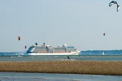 Celebrity Silhouette (Rui Nunеs) Tags: celebritysilhouette solent solstice celebritycruises ship vessel cruiseship calshot southampton windsurf sea beach england uk
