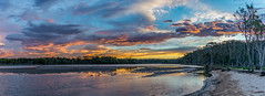 D71_0138-Pano.jpg (David Hamments) Tags: northdurraslake panorama roadie lake sunset pebblybeach nsw fantasticnature flickrunitedaward