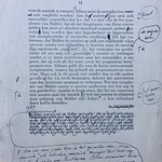 Laatste pagina proefdruk van essay 'Het Object der Muziek' van Vestdijk thumbnail