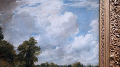 Constable, The Hay Wain (detail with clouds) (profzucker) Tags: landscape romanticism constable johnconstable english hay wain haywain cart farm industrialrevolution england dog nationalgallery london painting clouds haywain6footer sixfooter