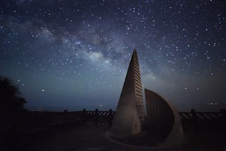 Milky way over Southernmost Point in Taiwan 台灣最南點銀河