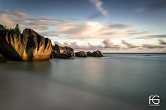 Rocks on Anse d'Argent (Fabien Georget (fg photographe)) Tags: ansesourcedargent water rocks longexposure landscape paysage sky blue ayezloeil beautifulearth bigfave canoneos5d canon elitephotography elmundopormontera eos fabiengeorget fabien fgphotographe flickr flickrdepot flickrunited georget geotagged flickunited longue mordudephoto nature paysages perfectphotograph perfectpictures wondersofnature wonders supershot supershotaward theworldthroughmyeyes shot poselongue photography photo greatphotographer bluehour granit seascape sunset slowshutter ladigue lesseychelles