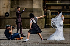 The Wedding (Fermat 48) Tags: albertsquare manchester wedding dress bride groom photographer assistant canon camera flash townhall eos 7dmarkii