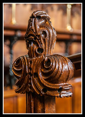 Choir Bench End Detail (veggiesosage) Tags: church stmaryschurch nottingham aficionados gx20 tamronaf1750mmf28xrdiiild