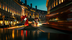 O V E R S A T U R A T E D (Panda1339) Tags: longexposure nightmode london ldn bus trails thegreat50mmproject regentstreet uk oversaturated touristy 3