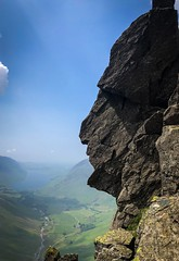Sphinx Rock on Great Gable this afternoon (davidglossop) Tags: dramatic england iphone spring climbing cumbria mountain landscape wastwater greatgable lakedistrict apache face rock