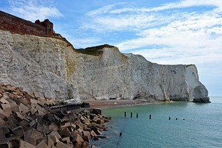 Chalk cliffs in Seaford, East Sussex