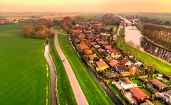 Westfriese Omringdijk & Noordhollandsch Kanaal. (Alex-de-Haas) Tags: dji derekere dutch europa holland nederland nederlands netherlands noordholland noordhollandschkanaal phantom phantom4 phantom4pro schoorldam uav warmenhuizen aerial aerialphotography air canal drone kanaal landscape landschaft landschap lente lucht luchtfotografie polder skies sky skyscape spring sundown sunset village water waterway waterweg zonsondergang nl