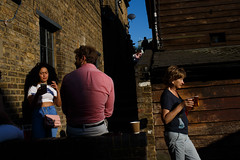 Camden, London (jaumescar) Tags: beer london england unitedkingdom street photo urban market people color camden woman smoking golden hour
