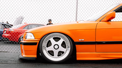 Orange M3 (1 of 1) (Tconnors_) Tags: cars camber canon5d canon canonphotography capturethemoment acura honda hre carshow s2000 stanced stancesociety chevy gtr bagriders bags bmw limbo hatch eg ek 2step vtech turbo rims wheels rotiform lexus