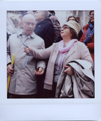 Selfie for the young (ale2000) Tags: instax instant lomoinstantwide instaxsquare lomoinstant fuji lomography lomoinstantsquare fujifilminstaxsquare square analog analogue happypeople streetphotography selfiestick selfie elders eldercouple couples woman donna
