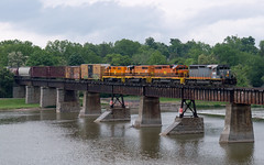 When Was The Last Time, You Did Something For The Last Time? (Joseph Bishop) Tags: qgry 6908 emd sd402 sor southernontariorailway rlhh trains train track tracks cn cnhagersvillesubdivision caledonia grandriver bridge