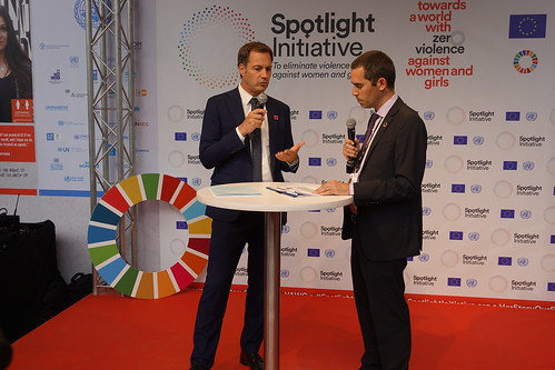 United Nations, #SpotlightENDViolence, stand at the European Development Days, 2018