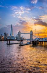 When London is on fire (aurlien.leroch) Tags: nikon london cityscape towerbridge shard sunset thames londres skyline skyscrapers
