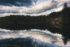 One of 187888 (Mikko Manner) Tags: nikond7200 sigma1835mmf18art leefilters finland landofthousandlakes clouds dramaticclouds reflection woods forest luukki naturereserve adobelightroom tripod treeline contrast