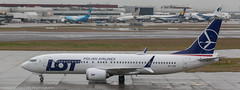 LOT Polish Airlines 737 at LHR (Alaskan Dude) Tags: travel europe england london heathrow londonheathrow lhr airplane airplanes jets airlines airliners aviation planespotting planewatching