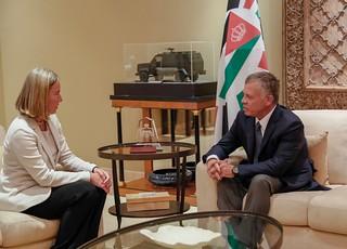 جلالة الملك عبدالله الثاني يستقبل الممثلة العليا للشؤون الخارجية والسياسة الأمنية في الاتحاد الأوروبي، فيديريكا موغيريني