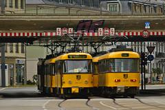 Tatra T4D-MT #224_277 DVB Dresden Drezno (3x105Na) Tags: tatra t4dmt 224277 dvb dresden drezno deutschland niemcy germany sachsen saksonia strassenbahn strasenbahn tram tramwaj