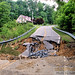 A Mountain Roadway Washed Out After Recent Flooding