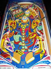 Trident (scottamus) Tags: pinball machine game table arcade playfield art artwork design graphics layout trident stern 1979