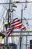 Flags of Wavertree (fantommst) Tags: lisaridings fantommst wavertree iron hulled sailing ship vessel american flag riggings shrouds stays ropes cablesandchains us usa nyc newyork city south stree seaport