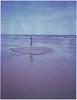 Looking at the sea (Maija Karisma) Tags: polaroid instant pola littlebitbetterscan polaroid250landcamera 669 expiredfilm peelapart nature sea