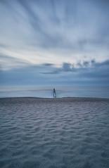 DSC05784 (Tintenfischkleber) Tags: balticsea longexposure dawn ostsee groynes beach sand blue sea sel1855
