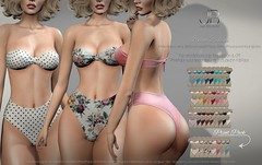 NEW! Irma Bikini - Mainstore Release (Just BECAUSE_SL) Tags: bikini swimwear swimsuit tied bandeau highwaist boobs cleavage booty summer pool beach mesh belleza maitreya mainstore slink secondlife sl just because