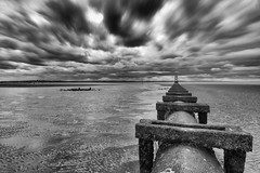 Darker Still (VisualTheatrics) Tags: landscape landmarks landscapes liverpool landmark local longexposure look light blackandwhite beautiful beauty bnw beach blacknwhite beaches 10stopnd 10stopneutraldensity canon canon750d citylife city mono monochrome mood moody lines leadinglines line