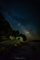 Milky Way Over Maksarska (InShot Images) Tags: stephenennisphotography inshotimages landscapephotography landscape longexposure longexposurephotography nightphotography night milkyway astrophotography croatia makarska travel canon sea rocks