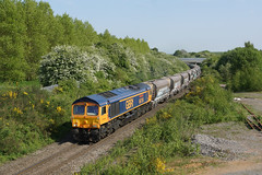 66756 Bagworth (Gridboy56) Tags: gm gbrf locomotive locomotives uk trains train railways railroad railfreight europe england emd diesel wagons cargo class66 shed 66756 6m54 freight bardonhill bardon bagworth colnbrook