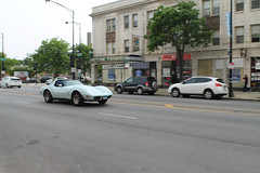 Tuesday Evening (Flint Foto Factory) Tags: chicago illinois urban city spring may 2018 north edgewater 1978 1979 chevrolet chevy corvette moving motion inmotion generalmotors gm fiberglass fiberglas sports car two seat tuesday evening pm neighborhood broadway granville intersection granvillepictures sovereign bar lounge barr funeral home business store front cvs drug pharmacy worldcars