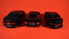 Murdered Out (OpenBagTwo) Tags: lego car speed champions bugatti chiron audi r8 lamborghini diablo moc ninjago garmadon