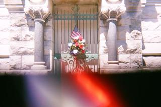Mausoleum at Mount Mora Cemetery in Saint Joseph Missouri (Split-Cam)