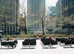 People Sitting  at AMA Plaza 2 (2) (shaundancekid) Tags: film portra 160 kodak nikon n65 color chicago ishootfilm filmisnotdead