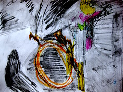 I Have A Haint (giveawayboy) Tags: pencil crayon water drawing sketch art tampa artist giveawayboy billrogers haint fch