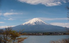 Fuji Yama    Angénieux G10   F:48  1:4 (情事針寸II) Tags: 裏富士 山梨 yamanashi mountain nature 山 自然 富士山 kawaguchilake fuji angénieuxg10f4814
