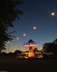 Festival Vibe (peterphotographic) Tags: photo02062018215757edwm apple iphone 6s ©peterhall allpointseast victoriapark hackney eastlondon london england uk britain festival summer summertime vibe carousel roundabout light dusk sunset