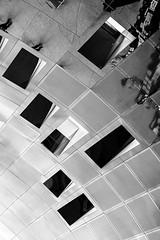 Vaughan Reflections #1 (Michael Muraz) Tags: 2017 bw blackwhite canada northamerica on ontario ttc toronto vaughan vaughanmetropolitancentre world abstract architecture building monochrome reflection station subwaystation trainstation
