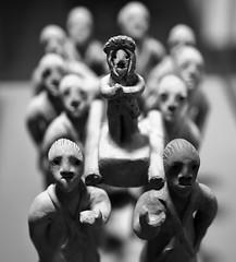 Arte popular americano, GAM; Santiago de Chile (Mario Rivera Cayupi) Tags: arte cultura tradición procesión bw bokeh culture tradition procession blanconegro gam canon80d santiagodechile blackandwhite serieart sigma1835mmf18art