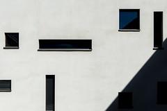 Shadow in the corner (Maerten Prins) Tags: netherlands nederland utrecht uithof campus universiteit university wall white shadow window windows squares irratic pattern corner rhythm