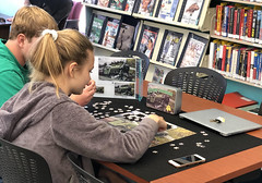 La Selva Beach Patrons Working On Puzzle (Santa Cruz Public Libraries) Tags: scpl scplcommunity santacruzpubliclibraries santacruzpubliclibrary laselvabeachlibrary laselvabeachbranchlibrary laselvabeachbranch laselvabeach patrons teens puzzles puzzle community library libraries