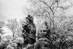 Cambodia 2018 - 002 (-clicking-) Tags: cambodia landscape infrared statue blackandwhite bw blackwhite nocolors monochrome monotone